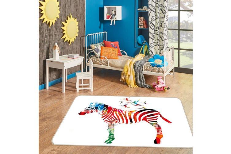 3D Color Zebra 34240 Non Slip Rug Mat