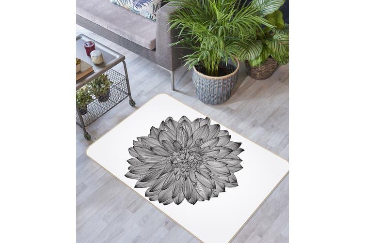 3D Flowers 34237 Non Slip Rug Mat