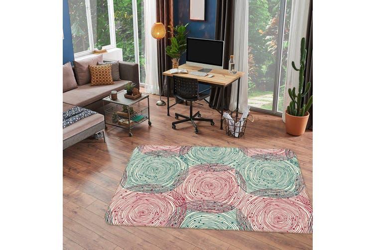 3D Circle Pattern 34233 Non Slip Rug Mat