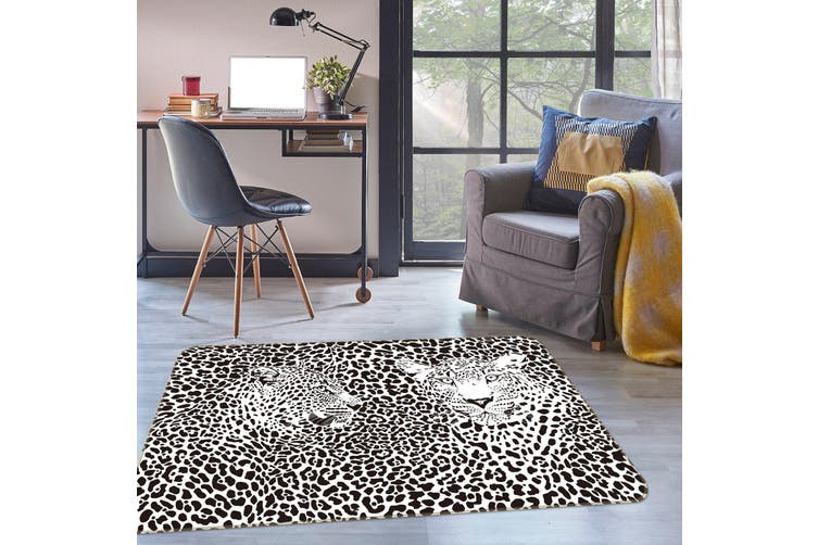 3D Leopard 34229 Non Slip Rug Mat