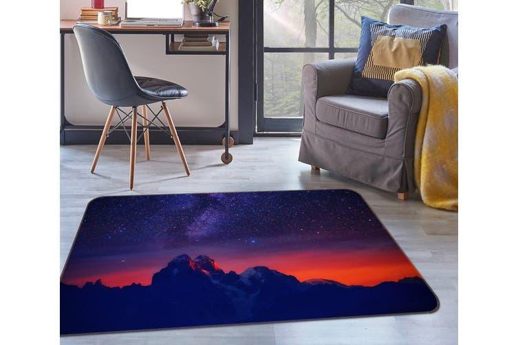 3D Mountains Starry Sky 34217 Non Slip Rug Mat