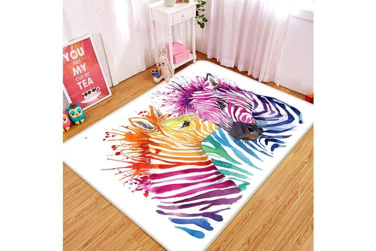 3D Color Zebra 34213 Non Slip Rug Mat