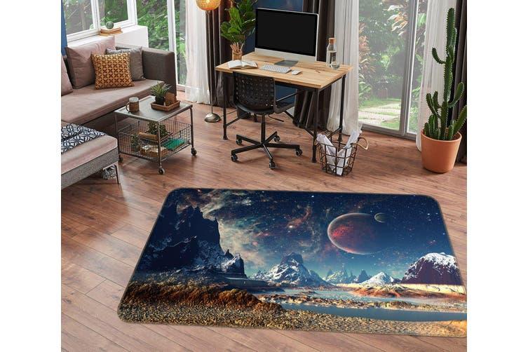 3D Mountain Planet 34203 Non Slip Rug Mat