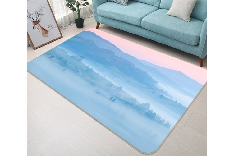 3D Mountains 34196 Non Slip Rug Mat