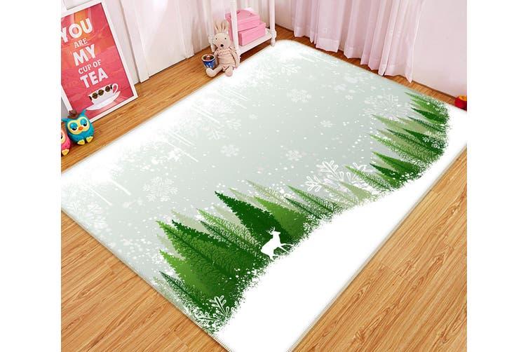 3D Snowfield Tree 34192 Non Slip Rug Mat