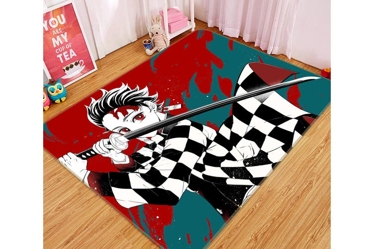 "3D Kimetsu No Yaiba 1020 Anime Non Slip Rug Mat, 60cmx90cm (23.6""x35.4"")"