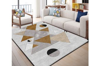 "3D Geometric Piece WG042 Non Slip Rug Mat, 40cmx60cm (15.7""x23.6"")"