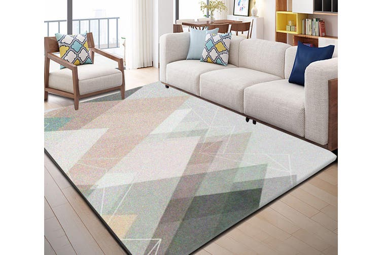 "3D Colored Irregular Geometry WG040 Non Slip Rug Mat, 80cmx120cm (31.4""x47.24"")"
