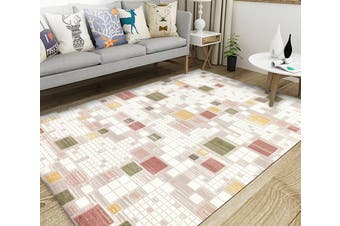 "3D Modern Colored Square WG037 Non Slip Rug Mat, 40cmx60cm (15.7""x23.6"")"