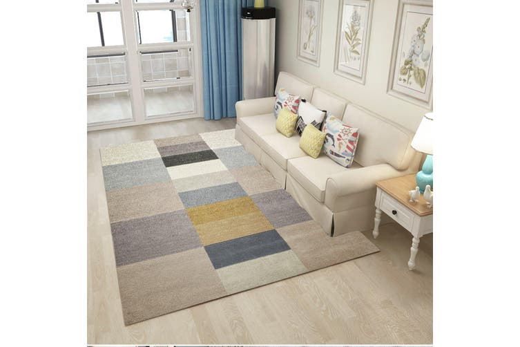 "3D Colored Square WG033 Non Slip Rug Mat, 160cmx240cm (63""x94.5"")"