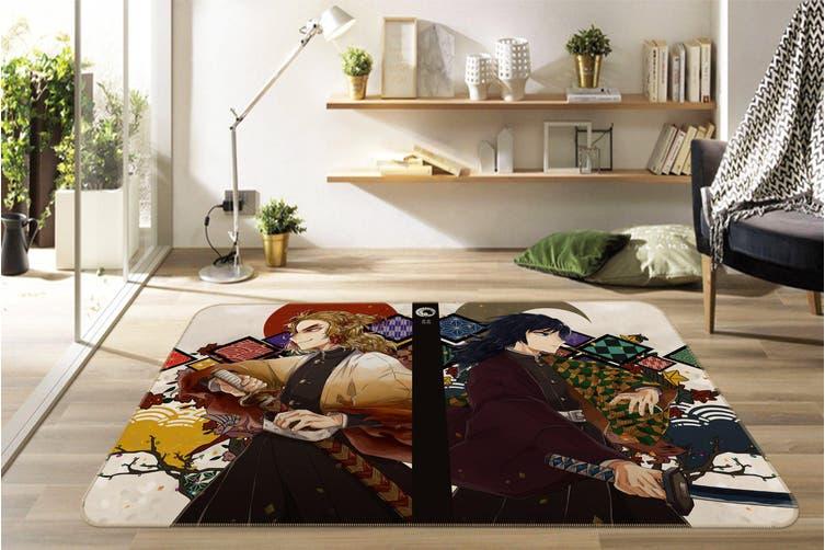 "3D Kimetsu No Yaiba 1016 Anime Non Slip Rug Mat, 80cmx120cm (31.4""x47.24"")"