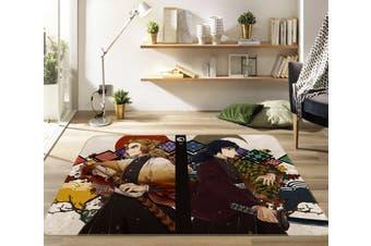 "3D Kimetsu No Yaiba 1016 Anime Non Slip Rug Mat, 120cmx180cm (47.2""x70.9"")"