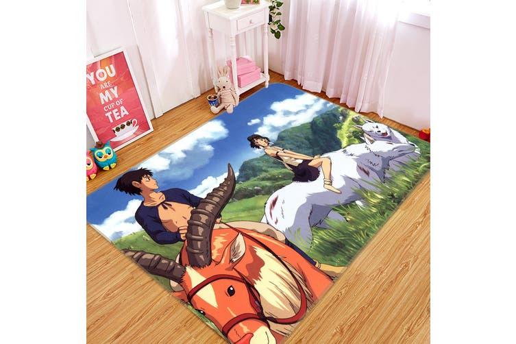 "3D Princess Mononoke 618 Anime Non Slip Rug Mat, 160cmx240cm (63""x94.5"")"
