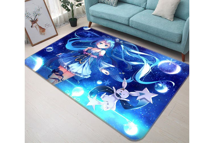 "3D Hatsune Miku 5841 Anime Non Slip Rug Mat, 160cmx240cm (63""x94.5"")"