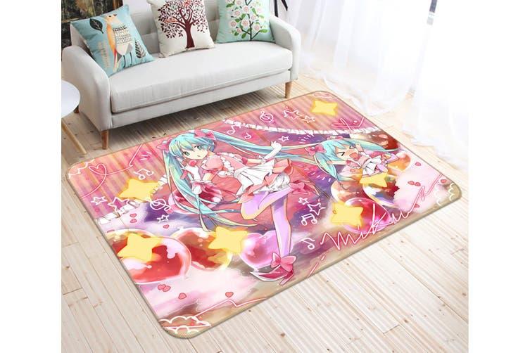 "3D Hatsune Miku 8435 Anime Non Slip Rug Mat, 120cmx180cm (47.2""x70.9"")"