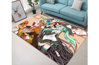 "3D Hatsune Miku 8622 Anime Non Slip Rug Mat, 40cmx60cm (15.7""x23.6"")"