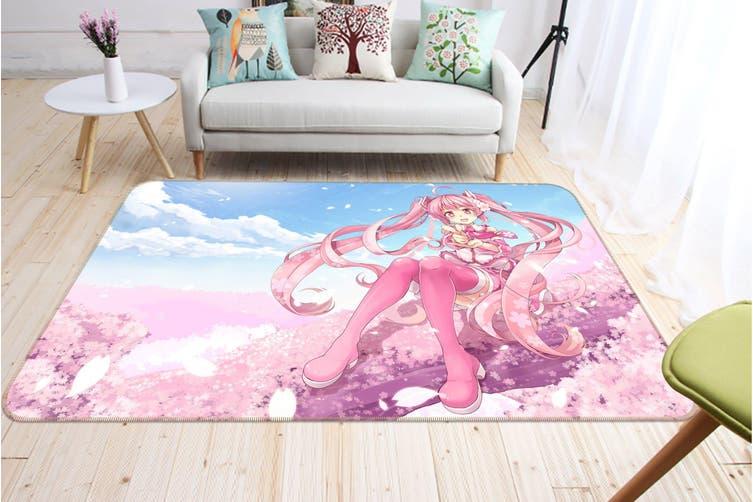 "3D Hatsune Miku 3029 Anime Non Slip Rug Mat, 60cmx90cm (23.6""x35.4"")"