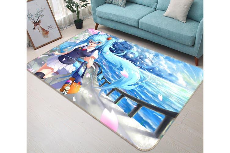 "3D Hatsune Miku 5328 Anime Non Slip Rug Mat, 160cmx240cm (63""x94.5"")"