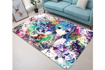 "3D Hatsune Miku 2681 Anime Non Slip Rug Mat, 160cmx240cm (63""x94.5"")"