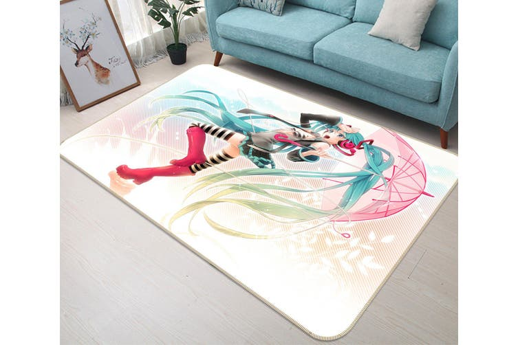 "3D Hatsune Miku 21 Anime Non Slip Rug Mat, 40cmx60cm (15.7""x23.6"")"