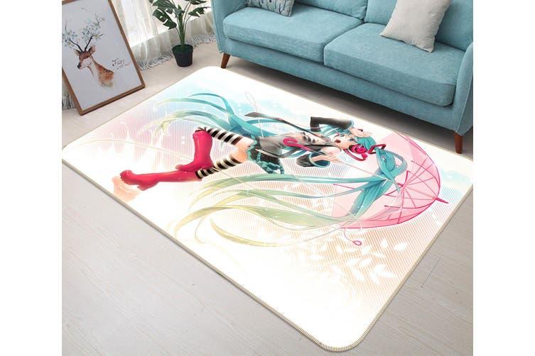 "3D Hatsune Miku 21 Anime Non Slip Rug Mat, 140cmx200cm (55.1""x78.8"")"