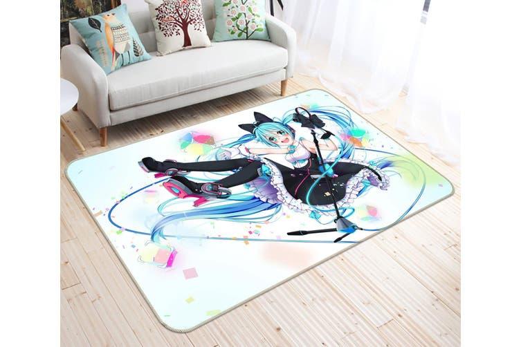 "3D Hatsune Miku 8925 Anime Non Slip Rug Mat, 40cmx60cm (15.7""x23.6"")"