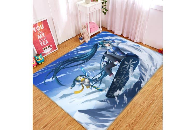 "3D Hatsune Miku 1436 Anime Non Slip Rug Mat, 140cmx200cm (55.1""x78.8"")"