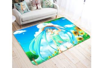 "3D Hatsune Miku 3584 Anime Non Slip Rug Mat, 80cmx120cm (31.4""x47.24"")"