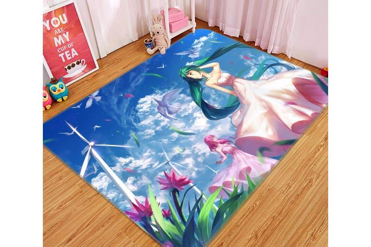 "3D Hatsune Miku 656 Anime Non Slip Rug Mat, 60cmx90cm (23.6""x35.4"")"