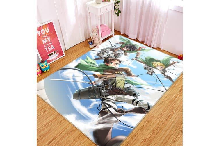 """3D The Giant Attack 569 Anime Non Slip Rug Mat, 140cmx200cm (55.1""""x78.8"""")"""