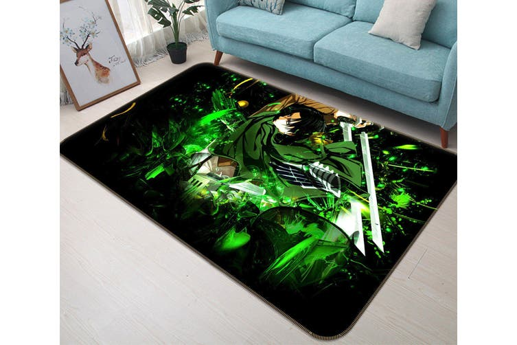 "3D Attack On Titan 5394 Anime Non Slip Rug Mat, 60cmx90cm (23.6""x35.4"")"