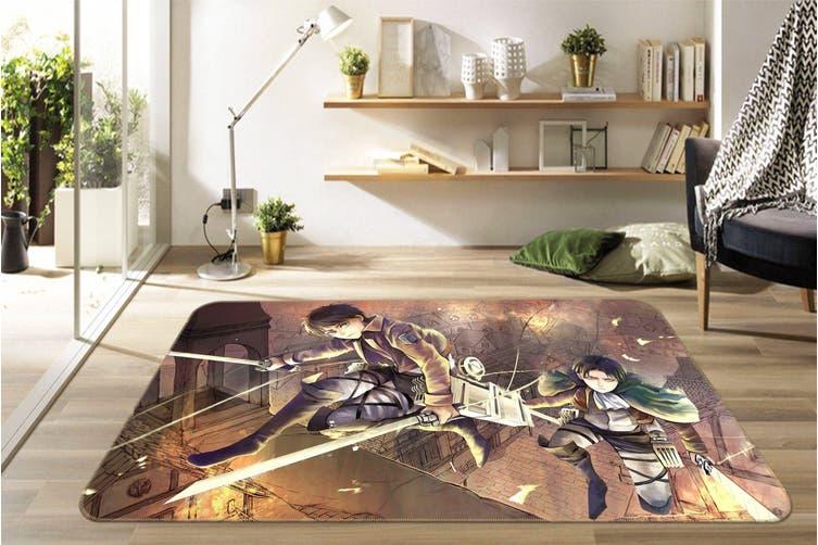"3D Attack On Titan 5433 Anime Non Slip Rug Mat, 60cmx90cm (23.6""x35.4"")"