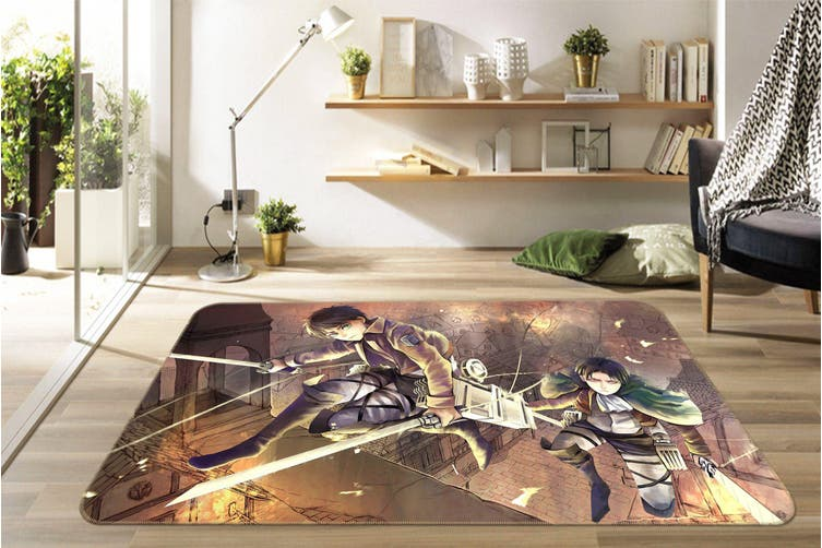 "3D Attack On Titan 5433 Anime Non Slip Rug Mat, 140cmx200cm (55.1""x78.8"")"