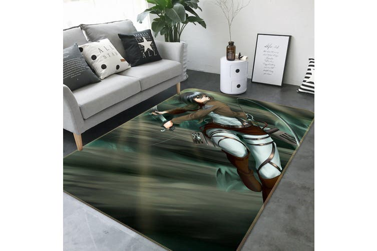 "3D Attack On Titan 329 Anime Non Slip Rug Mat, 80cmx120cm (31.4""x47.24"")"