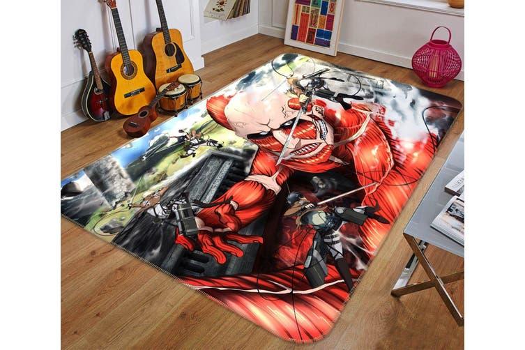 "3D Attack On Titan 842 Anime Non Slip Rug Mat, 60cmx90cm (23.6""x35.4"")"