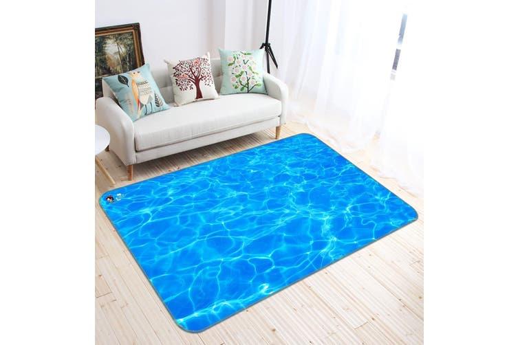 """3D Sparkling Sea 581 Non Slip Rug Mat, 40cmx60cm (15.7""""x23.6"""")"""