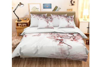 3D Peach Flowers Butterflies 346 Bed Pillowcases Quilt Duvet Cover Bedding Set Quilt Cover Quilt Duvet Cover