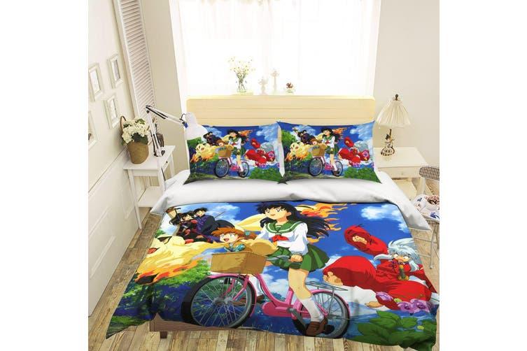 3D Inuyasha 245 Anime Bed Pillowcases Quilt Duvet Cover Bedding Set Quilt Cover Quilt Duvet Cover, King Single