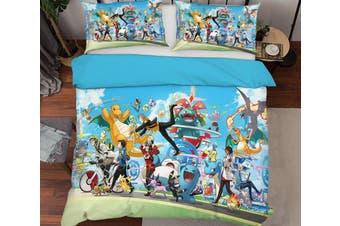 3D Pokemon 13 Anime Bed Pillowcases Quilt Duvet Cover Bedding Set Quilt Cover Quilt Duvet Cover