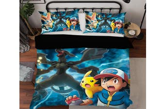 3D Pokemon 946 Anime Bed Pillowcases Quilt Duvet Cover Bedding Set Quilt Cover Quilt Duvet Cover
