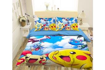 3D Pokemon 945 Anime Bed Pillowcases Quilt Duvet Cover Bedding Set Quilt Cover Quilt Duvet Cover