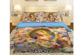 3D Photo Frame Angel 005 Bed Pillowcases Quilt Duvet Cover Bedding Set Quilt Cover Quilt Duvet Cover, King Single