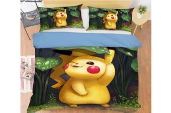 3D Pokemon 704 Anime Bed Pillowcases Quilt Duvet Cover Bedding Set Quilt Cover Quilt Duvet Cover