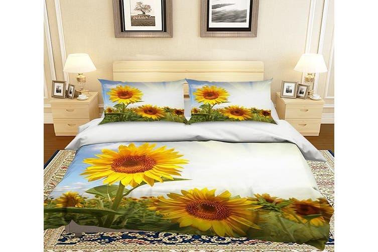 Dick Smith 3d Sunshine Sunflower 130 Bed Pillowcases Quilt Cover Set Bedding Set 3d Duvet Cover Pillowcases Home Garden Children S Home Furniture Bedding Quilts Bedspreads Doonas