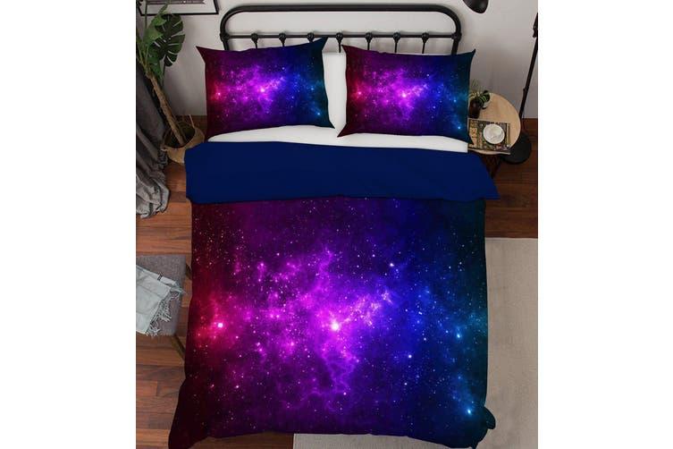 3D Purple Starry Sky 111 Bed Pillowcases Quilt Duvet Cover Bedding Set Quilt Cover Quilt Duvet Cover, Queen