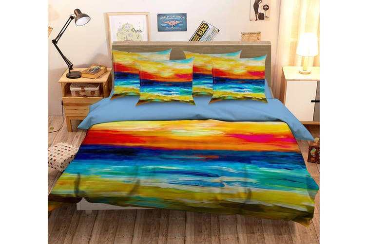 3D Paint Sunset 076 Bed Pillowcases Quilt Duvet Cover Bedding Set Quilt Cover Quilt Duvet Cover, King