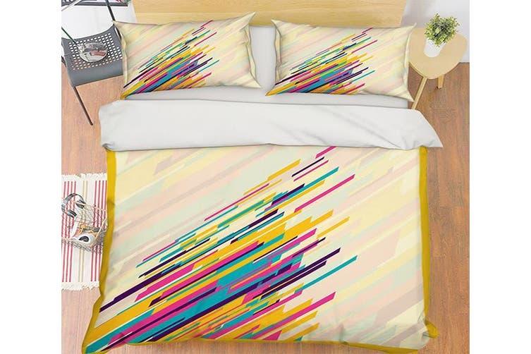 3D Color Line 069 Bed Pillowcases Quilt Duvet Cover Bedding Set Quilt Cover Quilt Duvet Cover, King Single