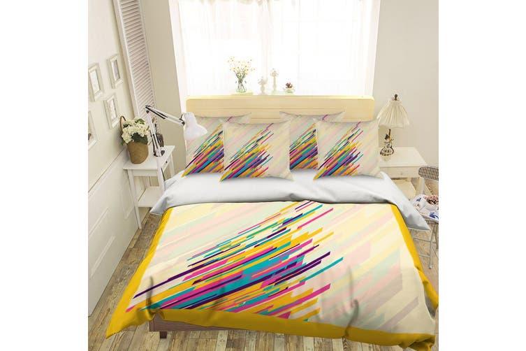 3D Color Line 069 Bed Pillowcases Quilt Duvet Cover Bedding Set Quilt Cover Quilt Duvet Cover, King