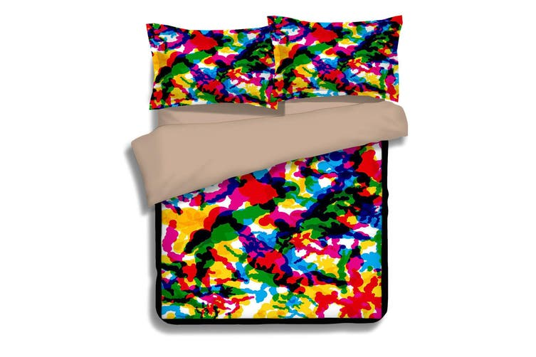 3D Abstract Color 068 Bed Pillowcases Quilt Duvet Cover Bedding Set Quilt Cover Quilt Duvet Cover, Queen
