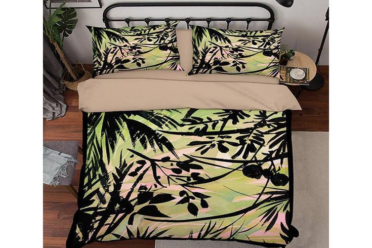 3D Oil Painting Leaves 067 Bed Pillowcases Quilt Duvet Cover Bedding Set Quilt Cover Quilt Duvet Cover, King Single